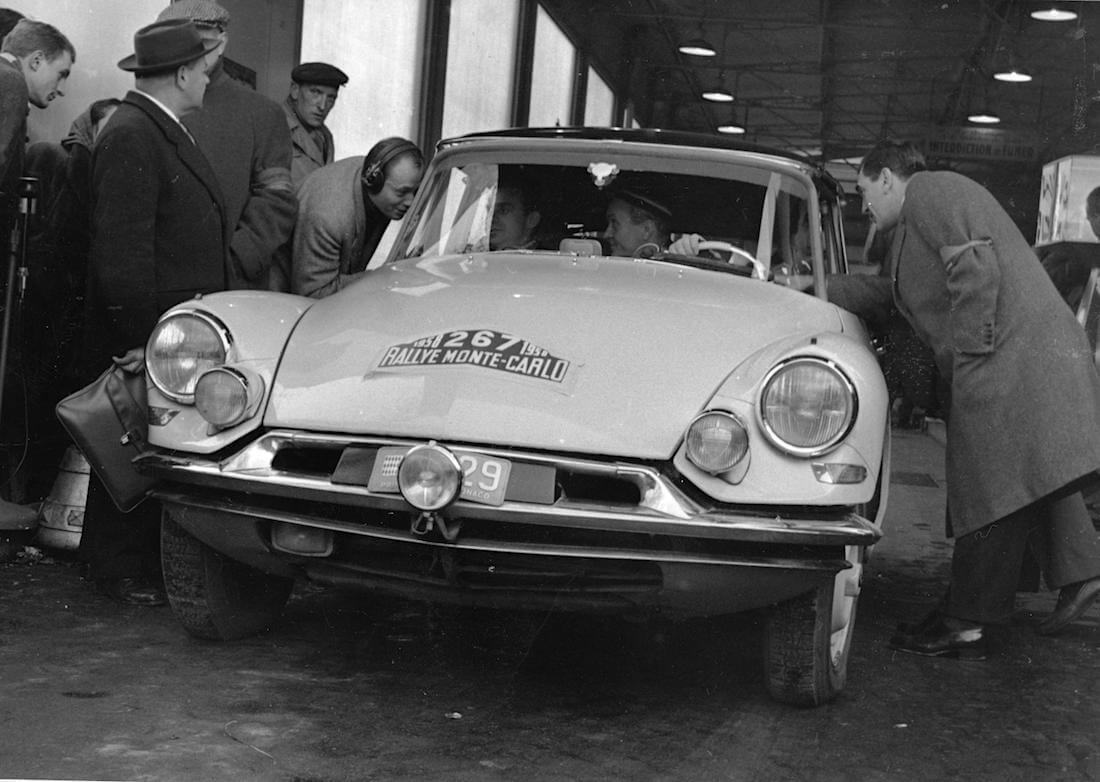 1958 Citroën DS Monte Carlon rallissa. Kuva ja copyright: Citroen Communications.
