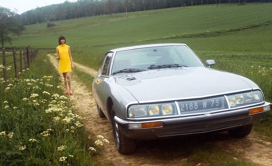 1970 Citroën SM mainoskuva. Kuva ja copyright: Citroën Communications.
