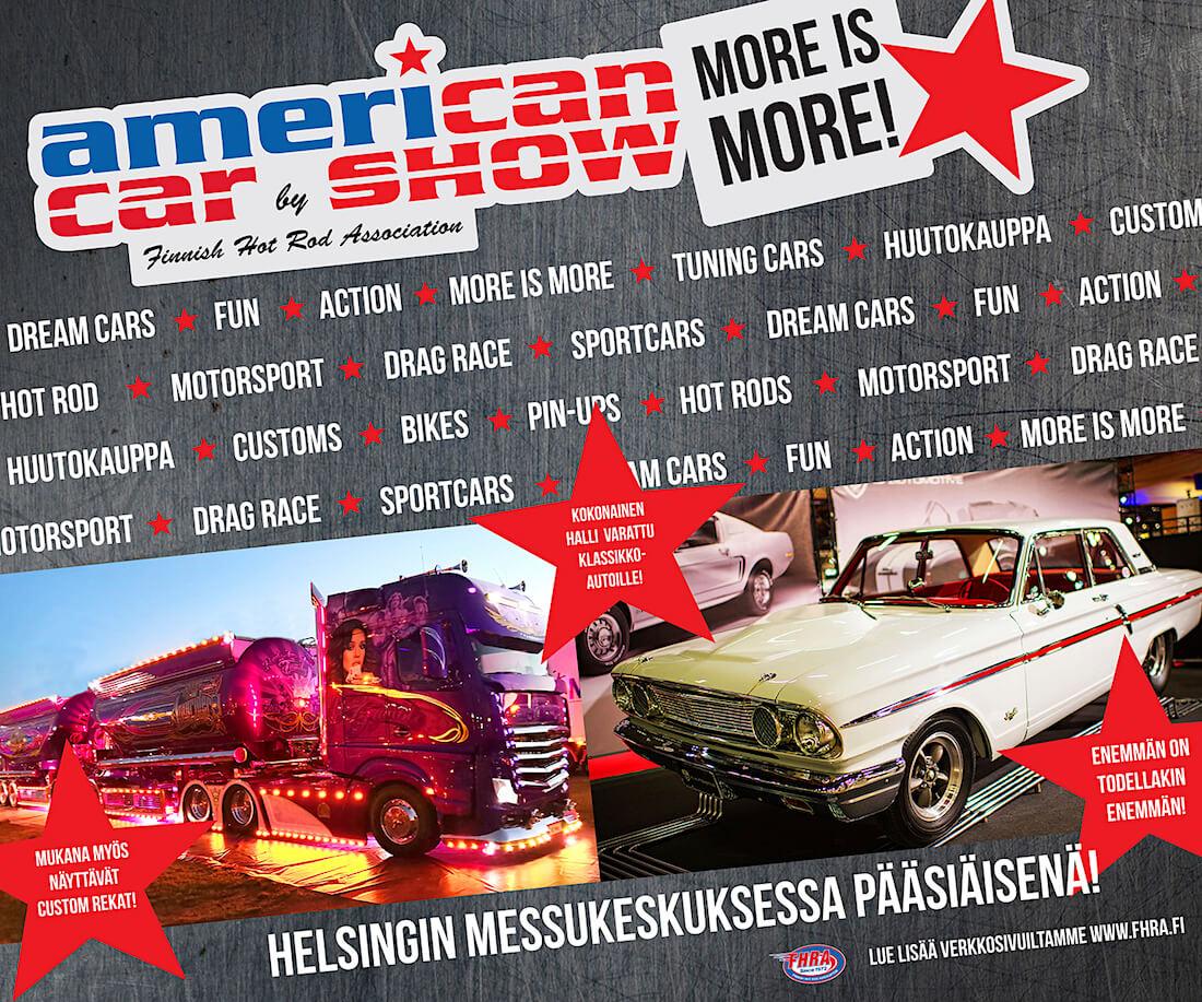 American Car Show 2019 promokuva. Kuva ja copyright: FHRA ry.