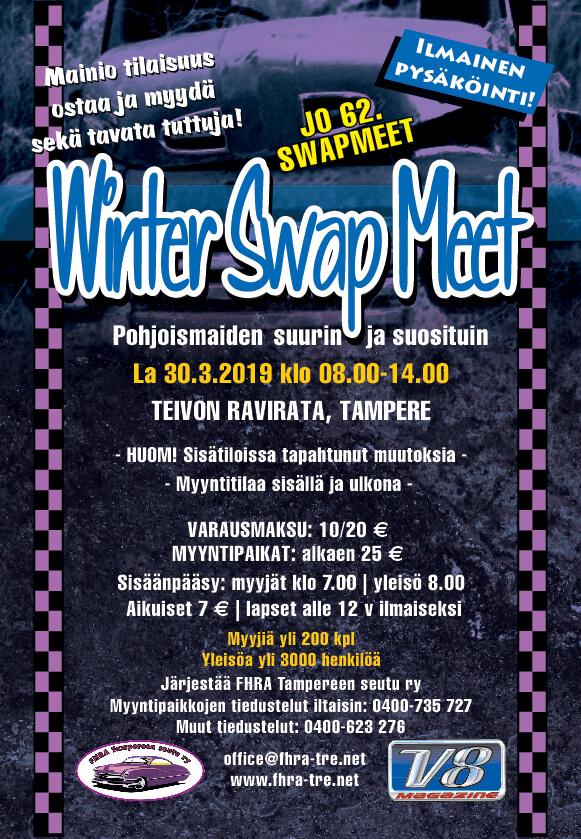 FHRA Tampere Winter Swap Meet. Kuva ja copyright: FHRA Tampere.