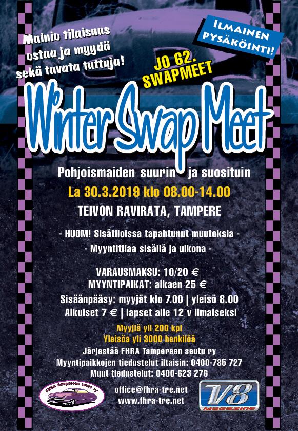 FHRA Tampere Winter Swap Meet. Kuva ja copyright: FHRA Tampere.
