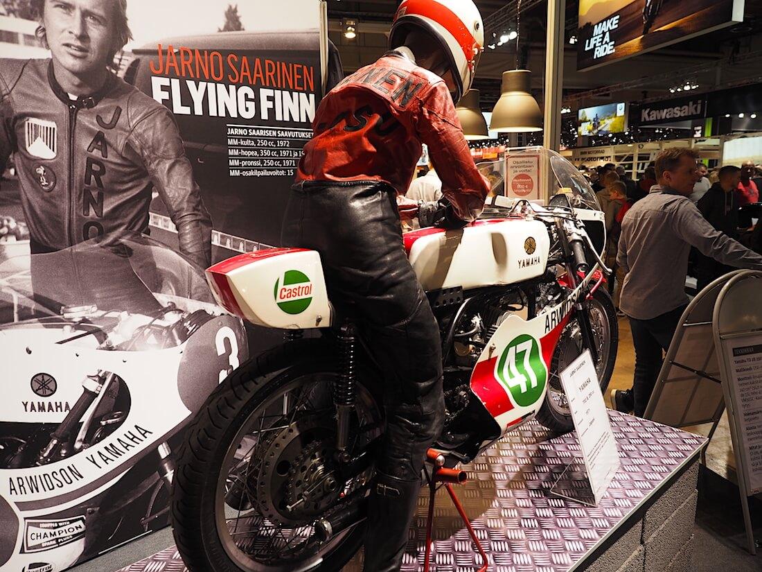 Jarno Paroni Saarisen 1971 Yamaha TD2 B 250cc. Kuva: Kai Lappalainen. Lisenssi: CC-BY-40.
