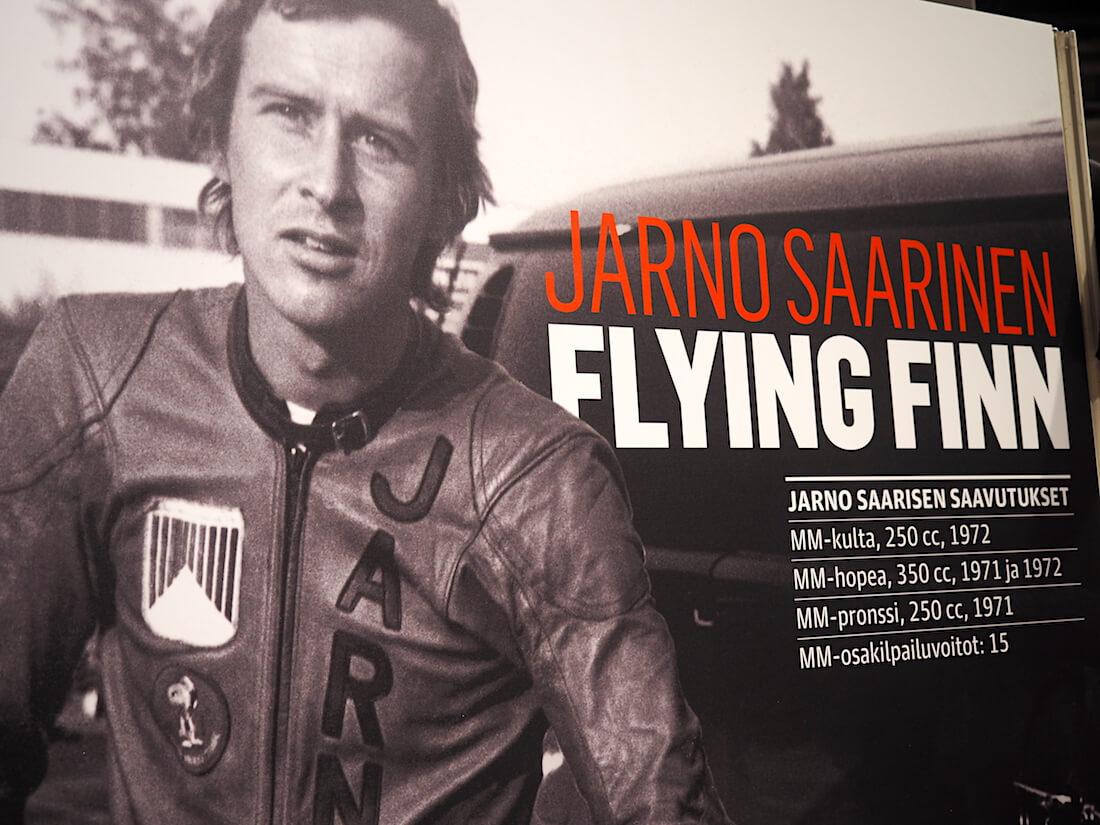 Ratamoottoripyöräilyn maailmanmestari Jarno Saarinen. Kuva: Kai Lappalainen. Lisenssi: CC-BY-40.