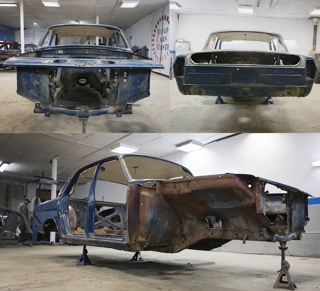 1976 Volga GAZ-24 purettu kori. Kuva ja copyright: RoadCarsMasters.