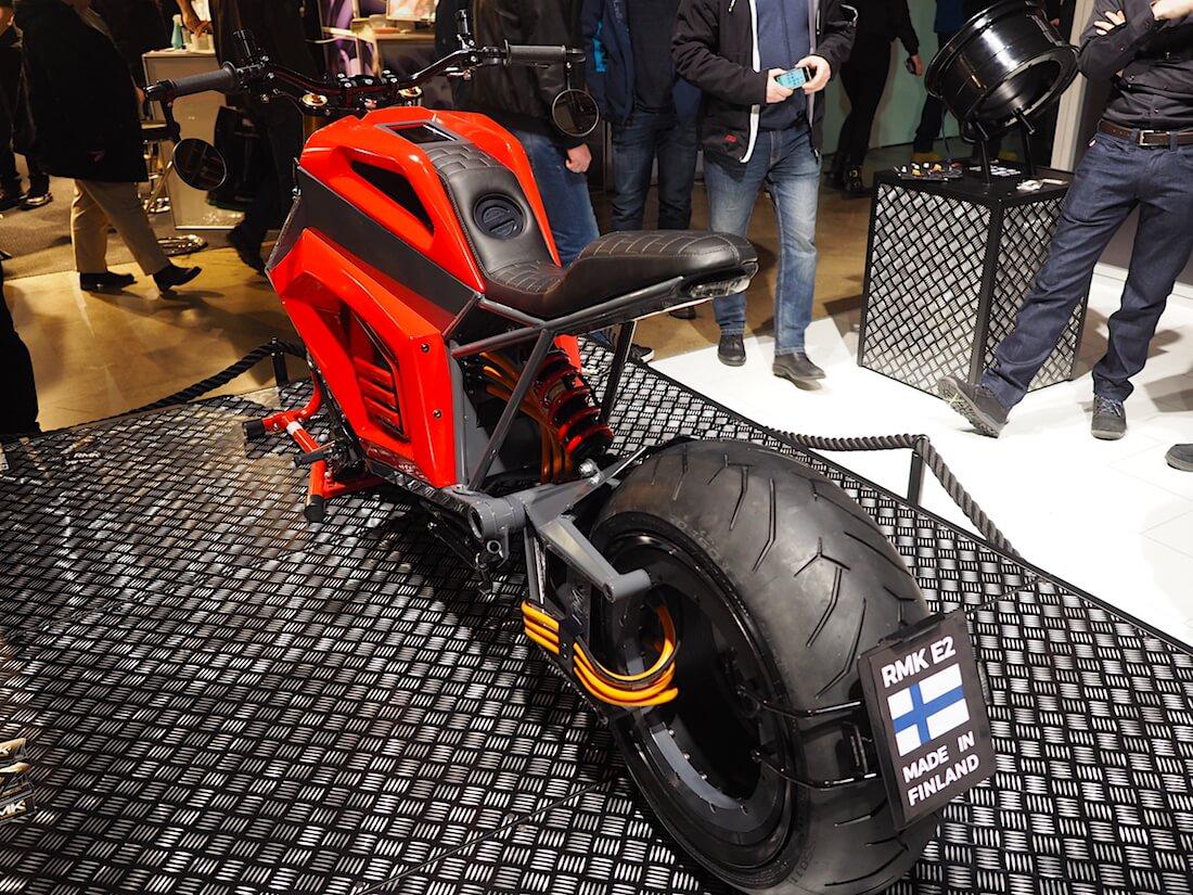 2019 RMK E2 sähkömoottoripyörä. Kuva: Kai Lappalainen. Lisenssi: CC-BY-40.