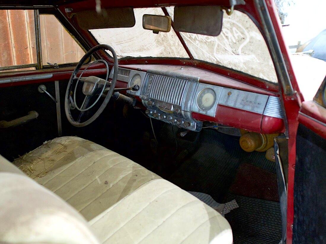 1946 Dodge Custom Convertible Suomi-auto sisusta. Kuva: Kai Lappalainen. Lisenssi: CC-BY-40.