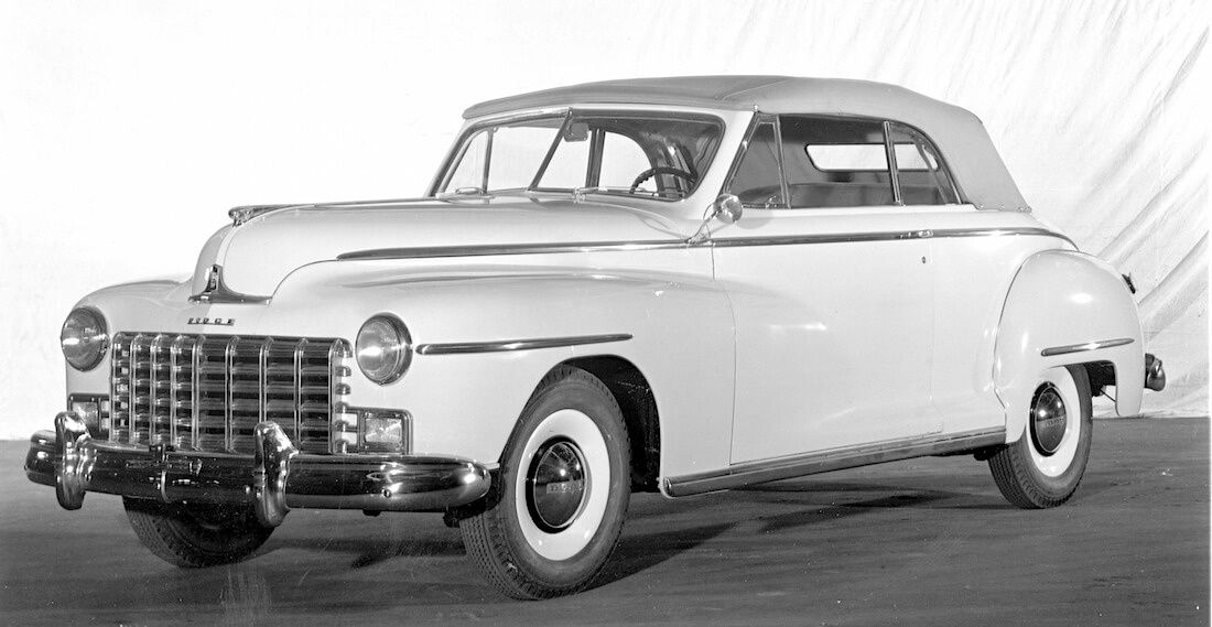 1946 Dodge Custom Convertible Coupe Fluid Drive. Kuva ja copyright: FCA North America.