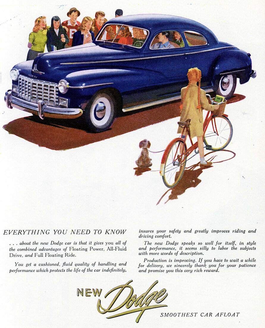 1946 Dodge mainosjuliste. Kuva ja copyright: FCA North America.