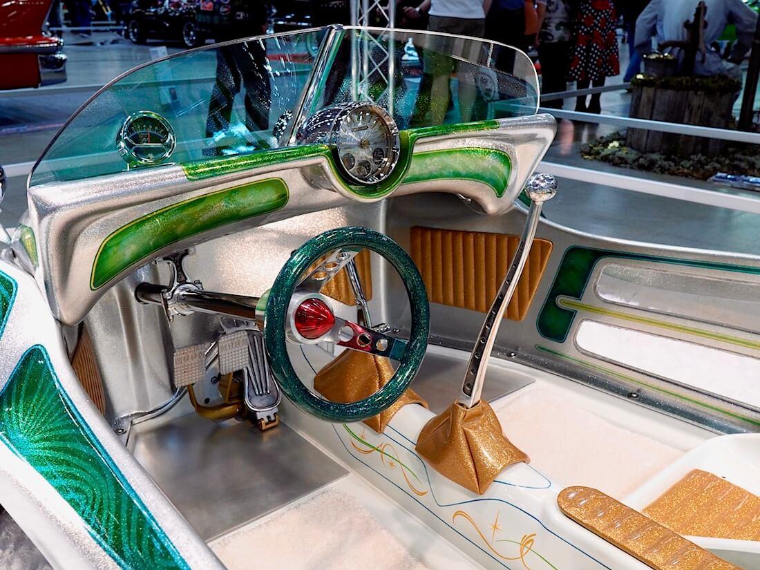 1967 VW Beach buggy rantakirpun custom-sisusta. Kuva: Kai Lappalainen. Lisenssi: CC-BY-40.