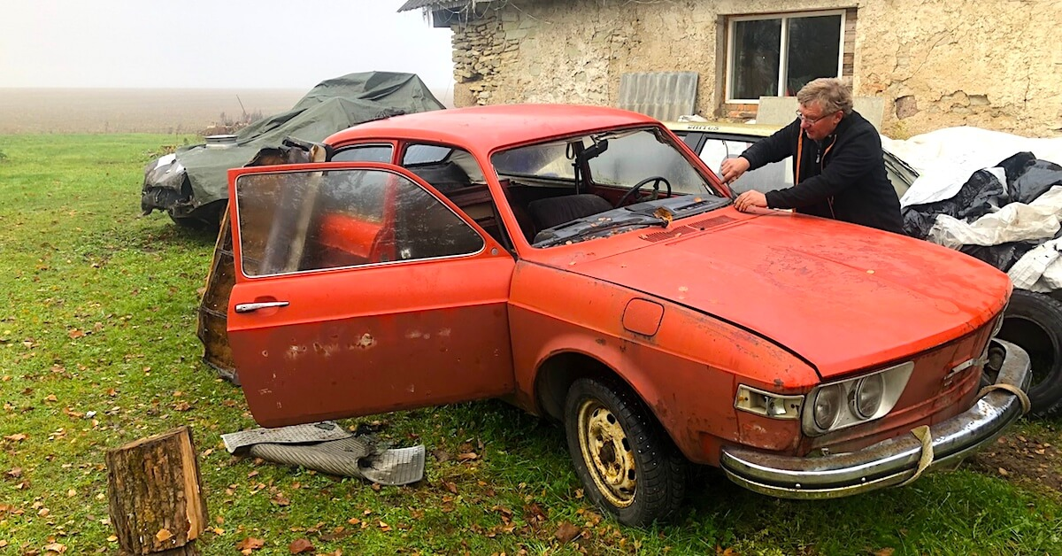 1973 VW 412E projekti löytöpaikalla. Kuvat ja copyright: Tõnu Mürk.