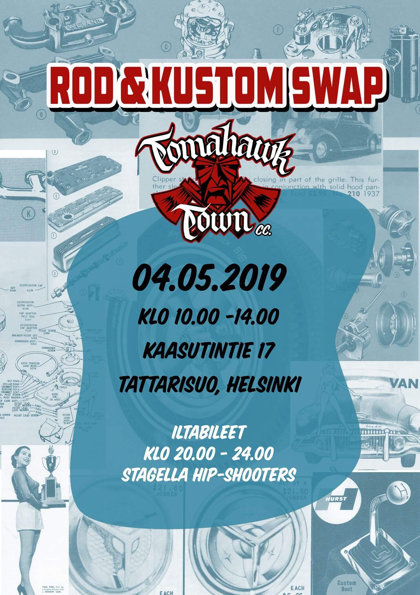 Tomahawk Town Rod & Custom Swap 2019. Kuva ja copyright: Tomahawk Town.