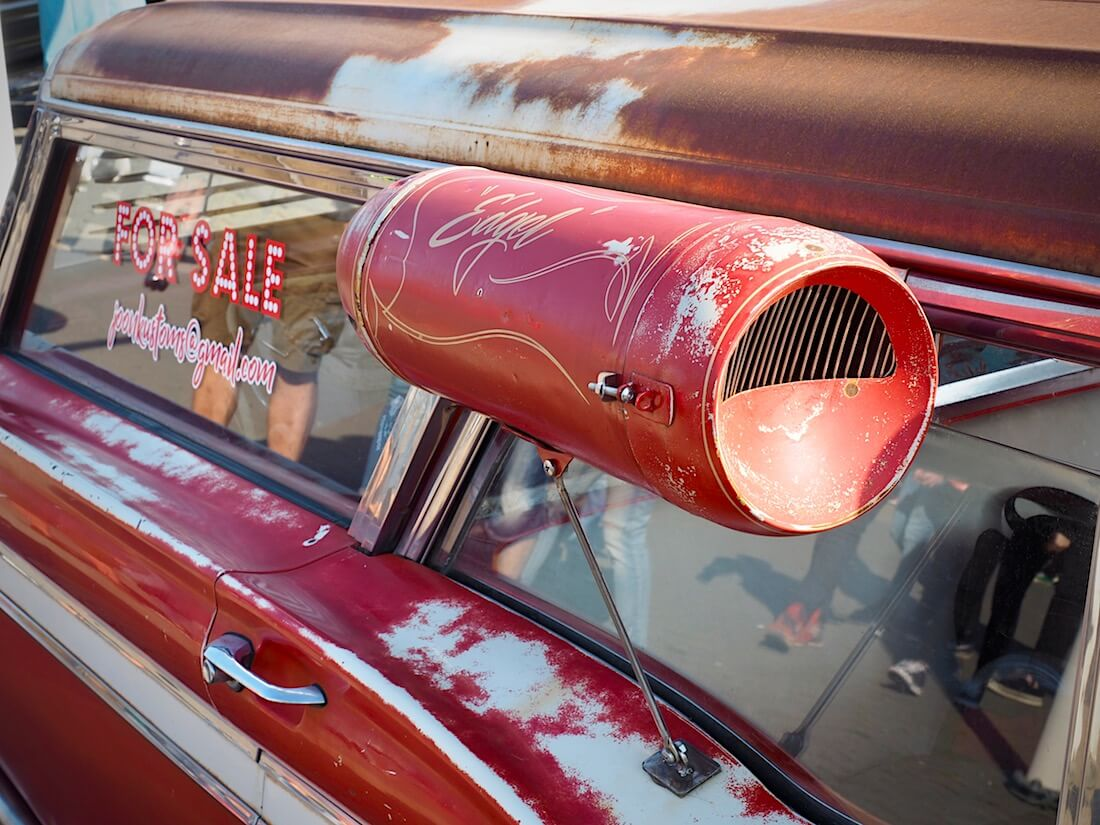 Svamp cooler 1959 Edselin ikkunassa. Kuva: Kai Lappalainen. Lisenssi: CC-BY-40.