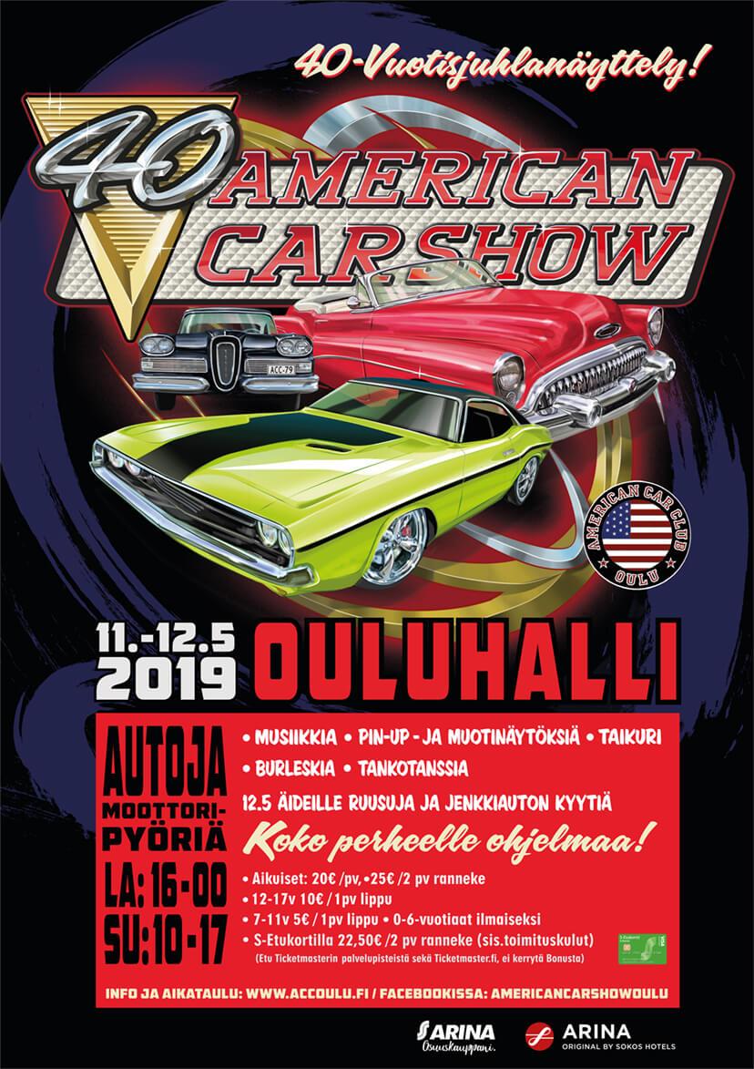 American Car Show Oulu 2019. Kuva ja copyright: ACC Oulu.