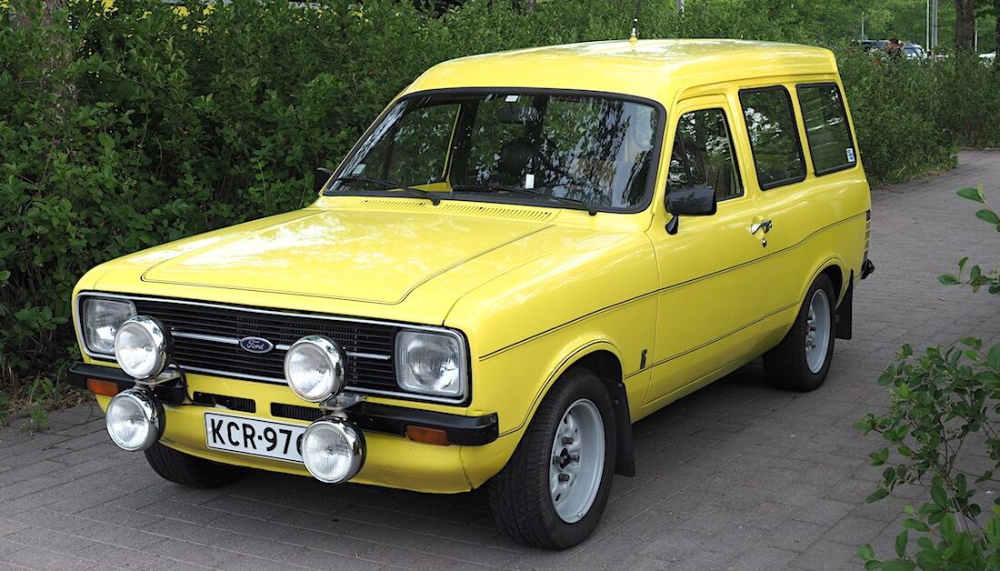 Ford Escort Mark II pakettiauto. Kuva: Kai Lappalainen. Lisenssi: CC-BY-40.