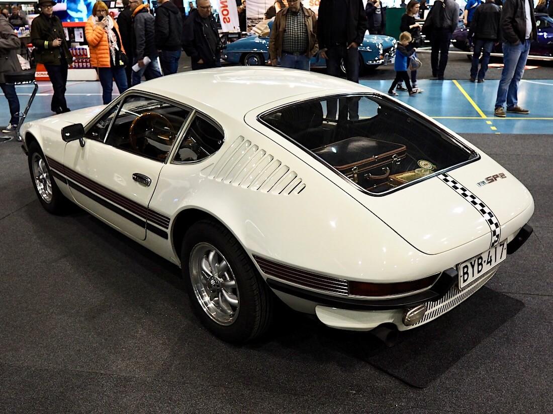 1973 Volkswagen SP2 Lahden Classic MotorsShow näyttelyssä. Kuva: Kai Lappalainen. Lisenssi: CC-BY-40.