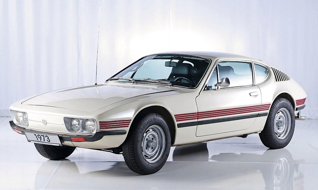 1973 Volkswagen SP2 brasilian Volkswagenin valkoinen urheiluauto. Tekijä ja copyright: Volkswagen AG.