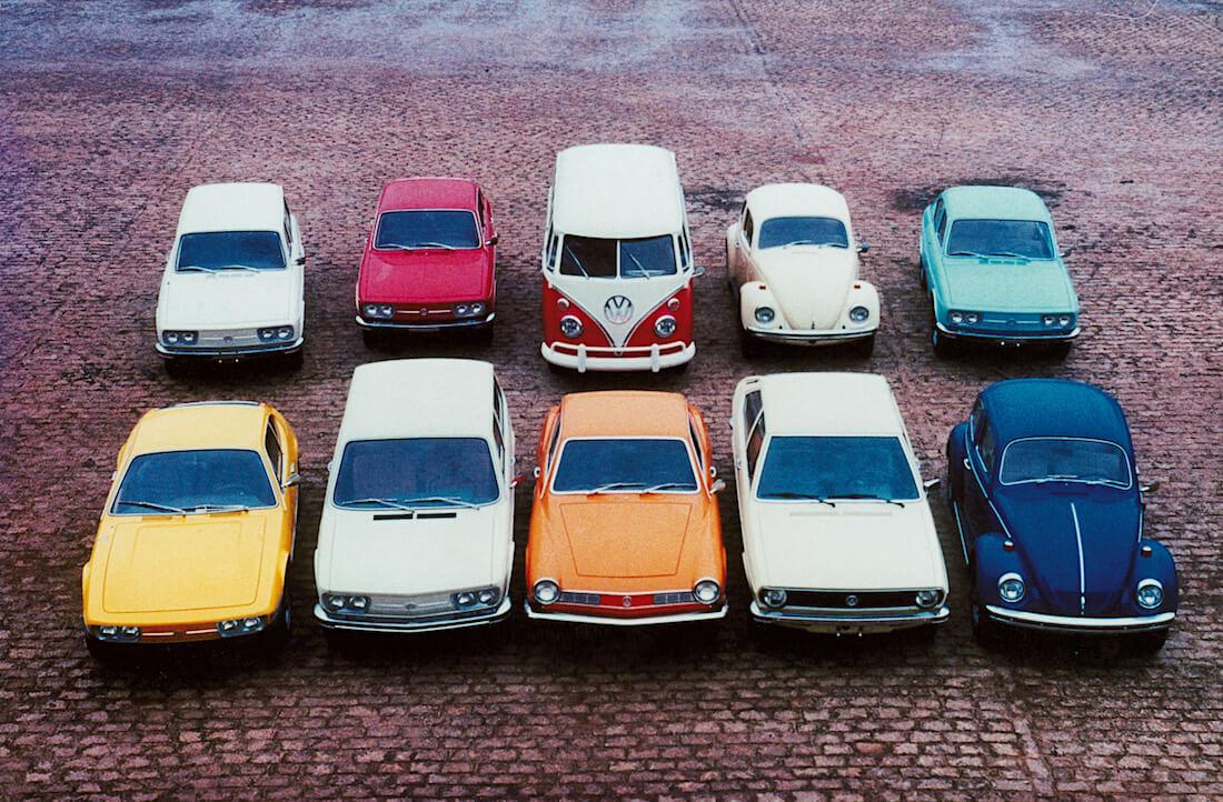 Brasilian Volkswagenin valmistamia autoja 1970-luvun alusta. Kuva ja copyright: Volkswagen of Brazil.