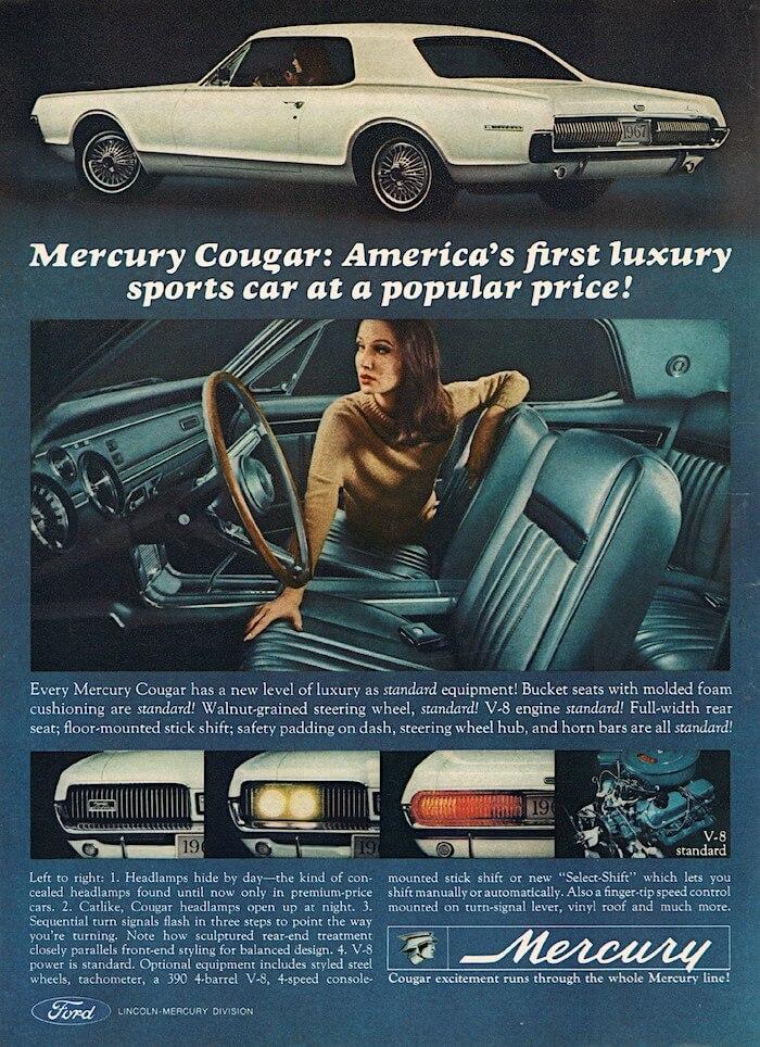 1967 Mercury Cougarin mainos.