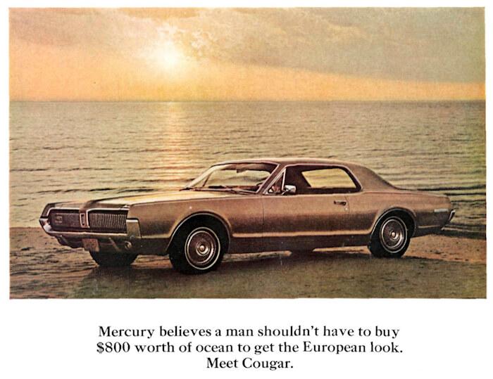 1967 Mercury Cougarin mainos