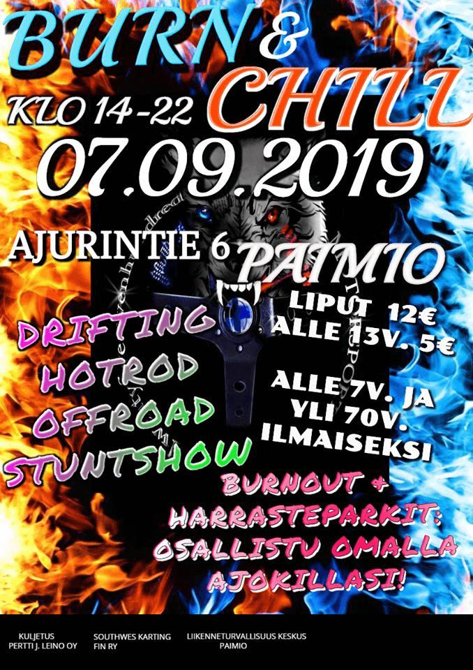 Burn & Chill 7.9.2019 juliste