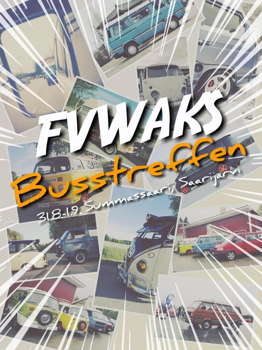 FVWA Keski-Suomi Busstreffen 2019 mainos