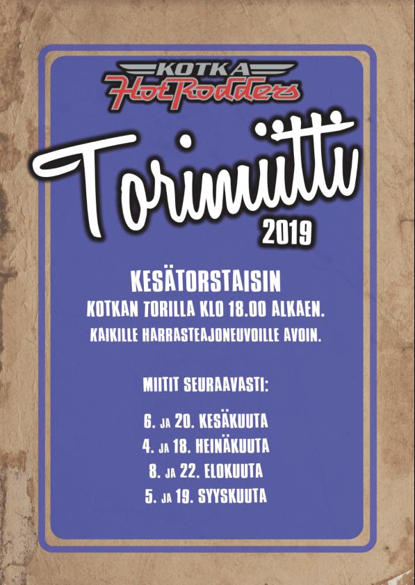 Kotkan torimiitit kaudella 2019