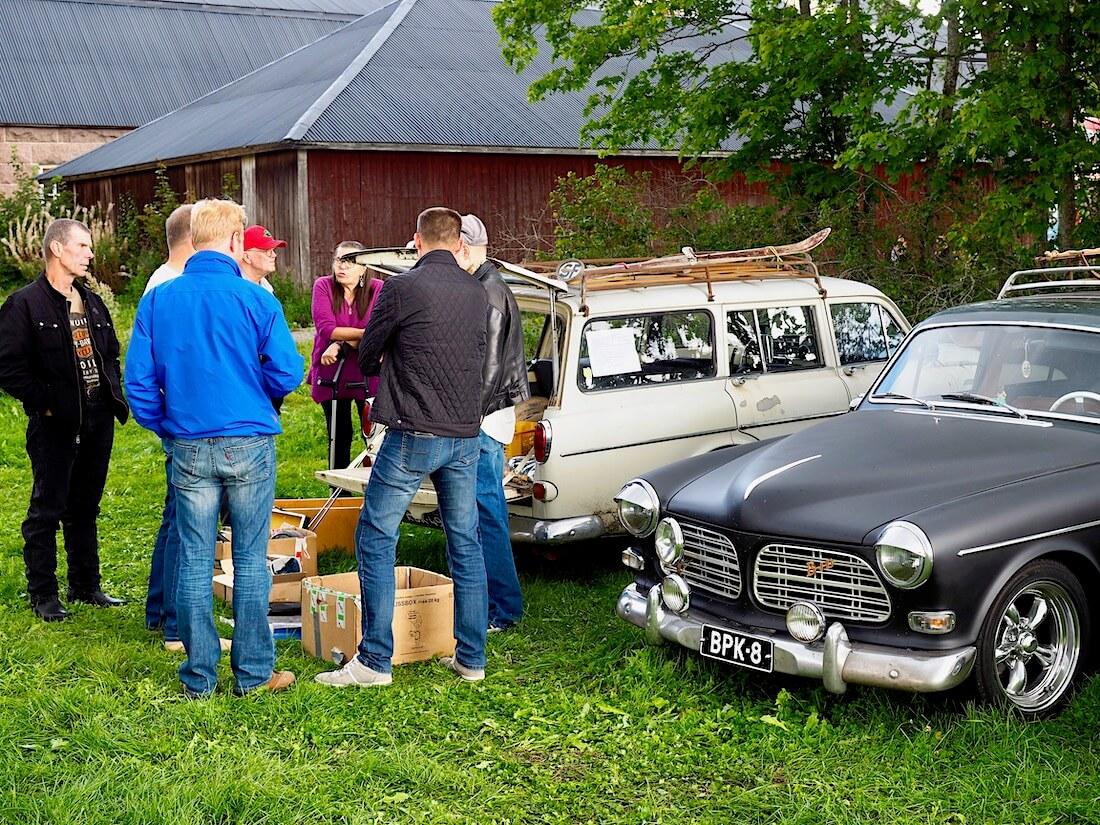 Volvo Amazon takakontti-swap Volvo Treffeillä