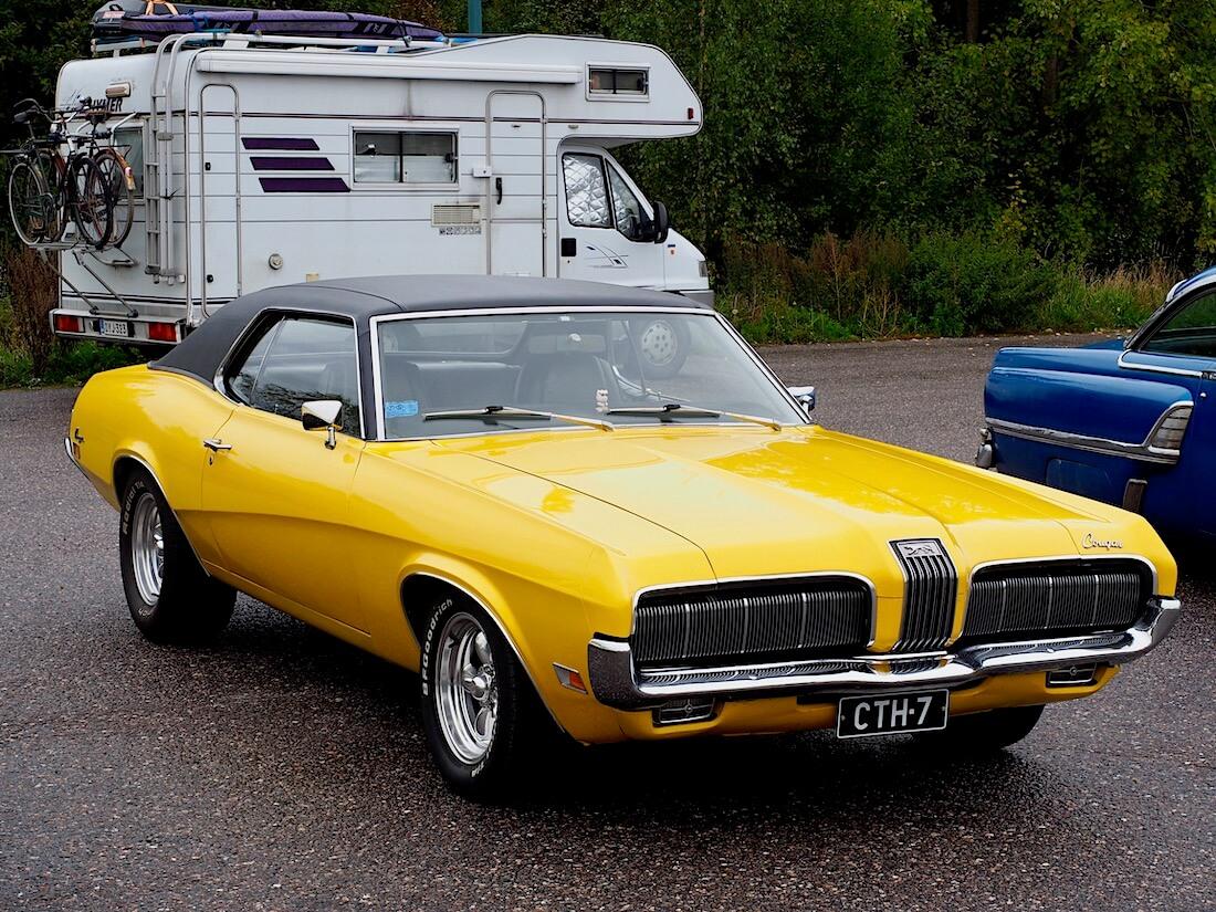 Keltainen 1970 Mercury Cougar 351cid V8