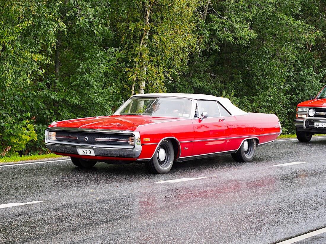 Punainen 1970 Chrysler 300 convertible