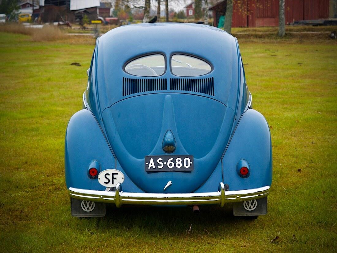 1951 VW kuplan kaksiosainen takalasi