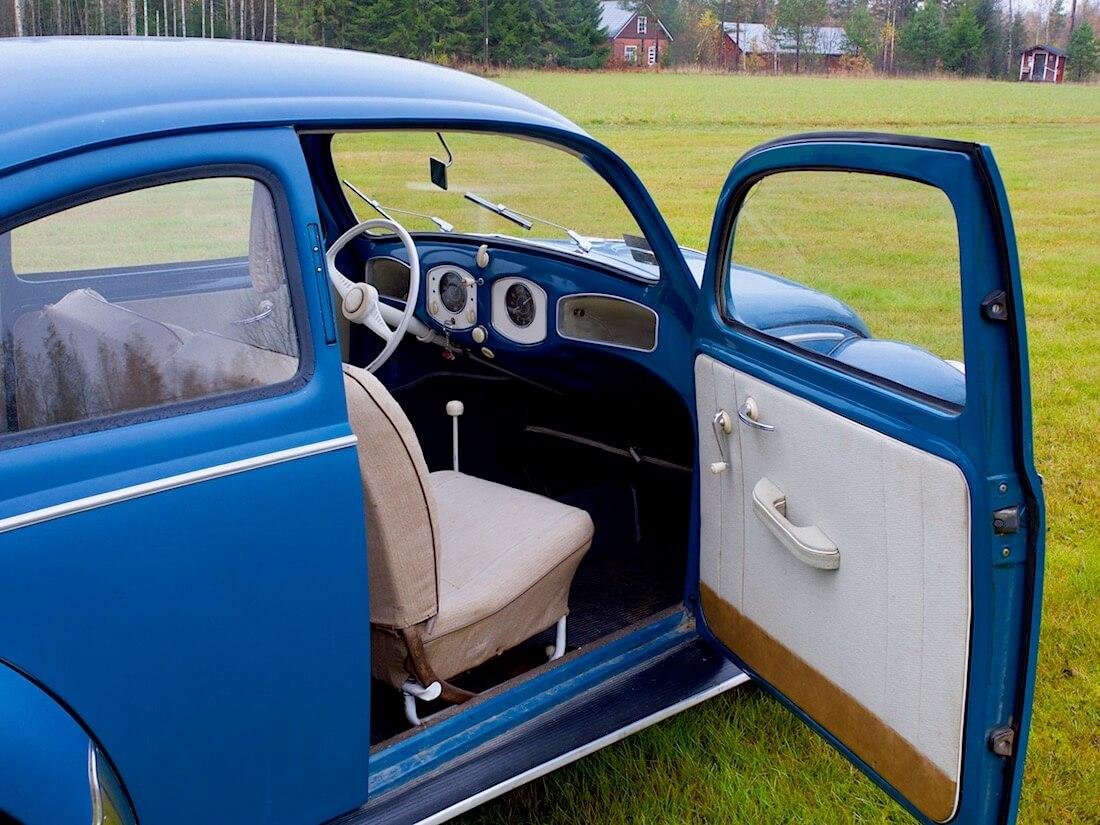 1951 VW kuplan sisusta ja kojelauta