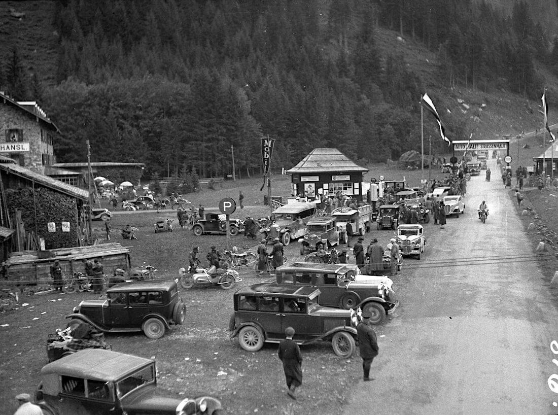 Grossglockner ylämäkiajon lähtöalue vuonna 1935