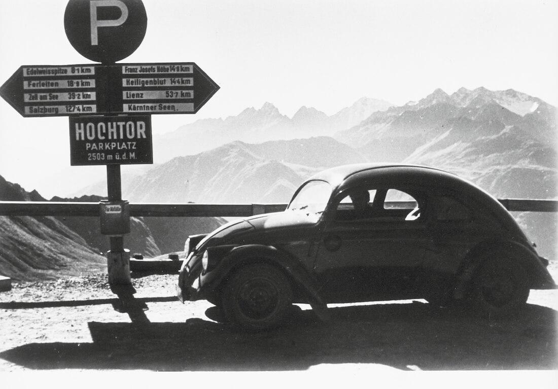1937 VW kuplan ptototyyppi Grossglockner alppitiellä
