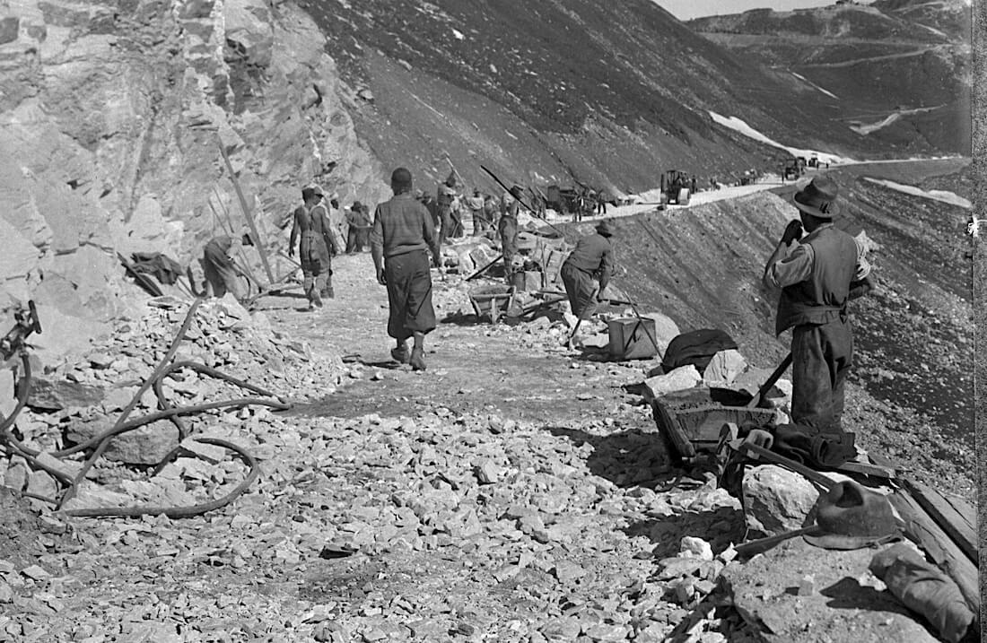Grossglockner alppitien rakennustyömaa