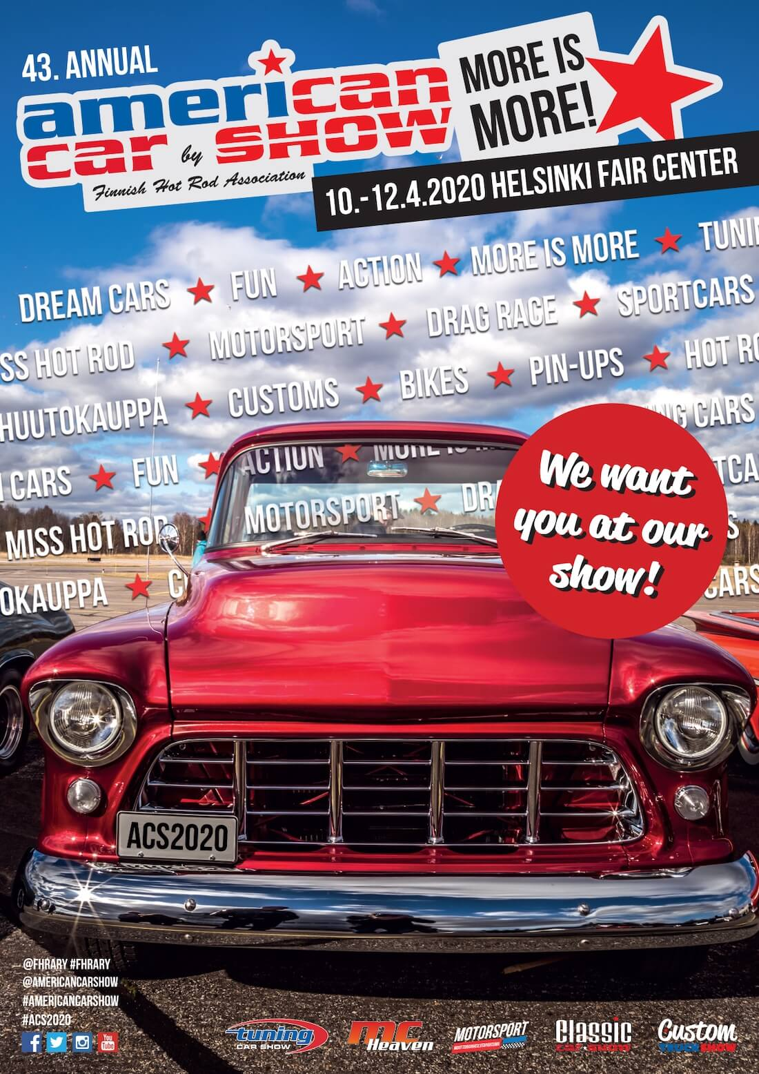 American Car Show 2020 juliste