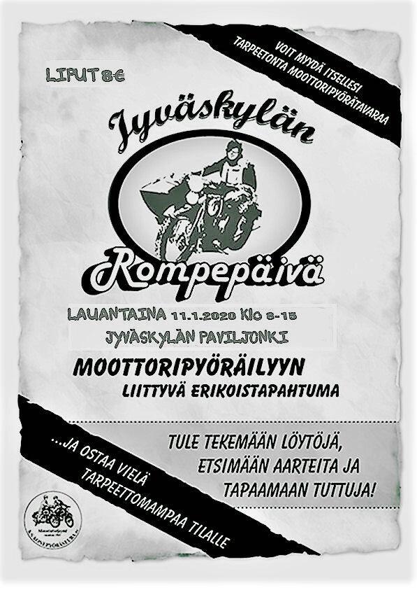Jyväskylän Rompepäivä 11.1.2020 mainos