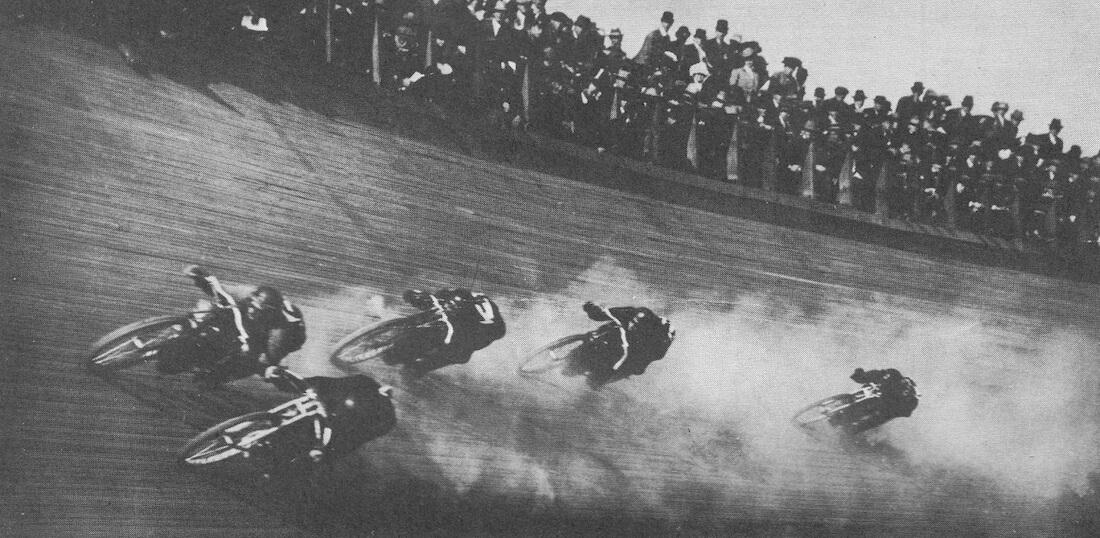 Moottoripyöräkilpailu 1910-luvulla