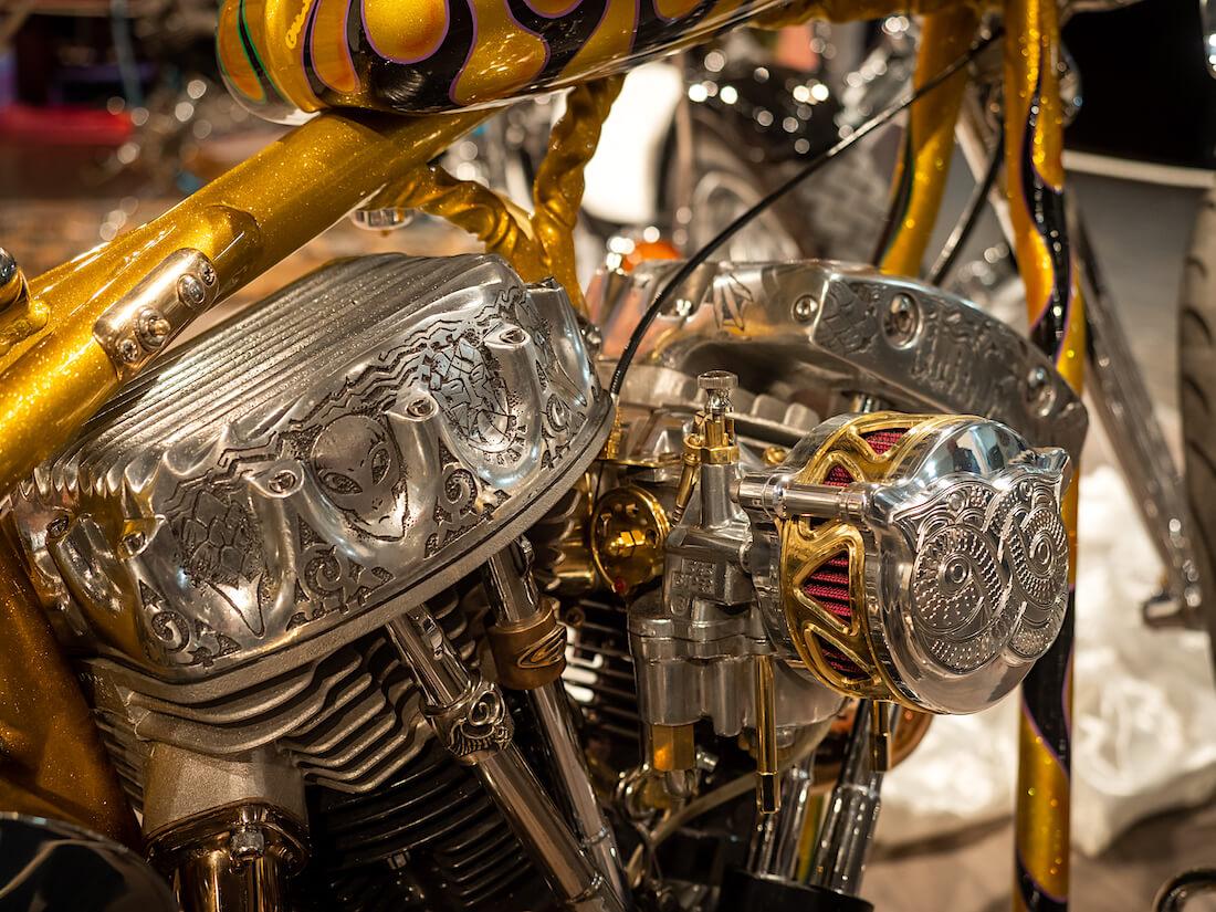 Sampo custom-prätkän moottori