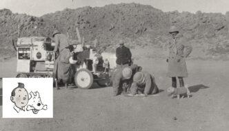 Tintin Milou-koiran esikuva Saharan aavikolla