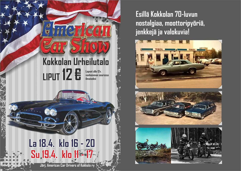 American Car Show Kokkola 2020 juliste.