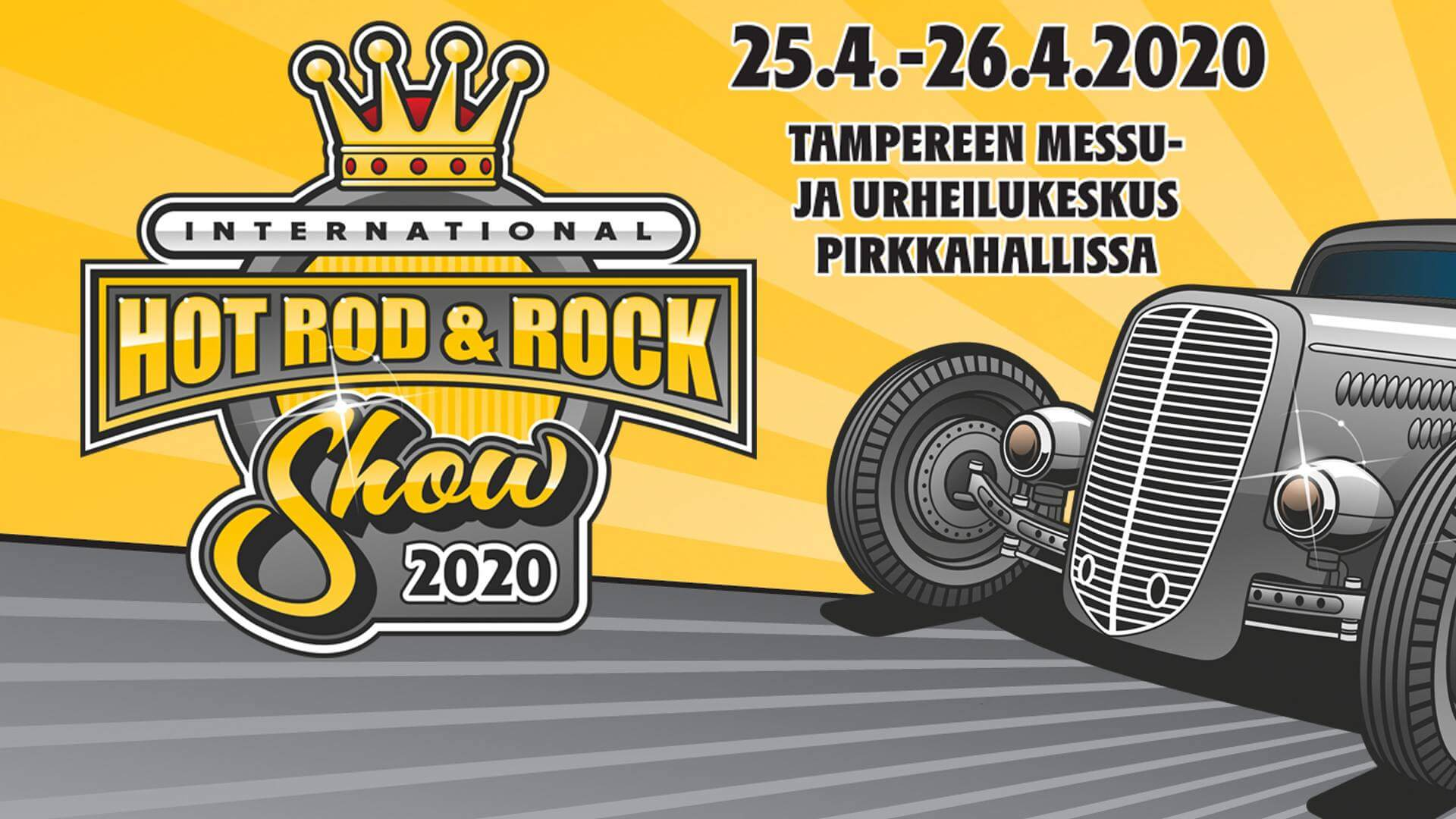 Hot Rod & Rock 2020 shown juliste.
