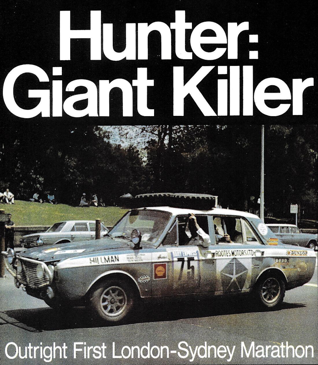 Lontoo Sydney maratonirallin voittaja 1968 Hillman Hunter