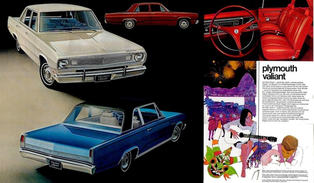 1969 Plymouth Valiantin mainosjuliste