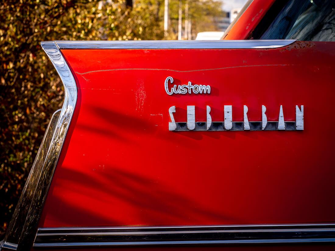 1958 Plymouth Custom Suburban logo