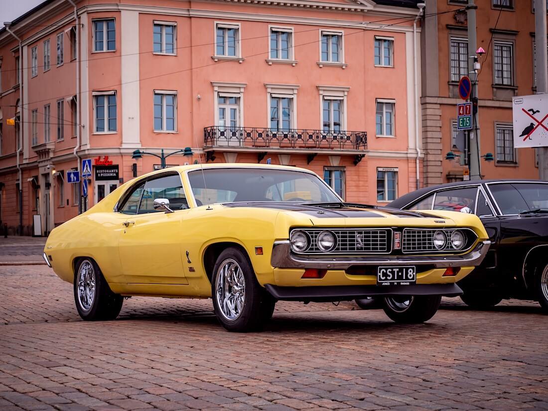 Keltainen 1971 Ford Torino 2d HT