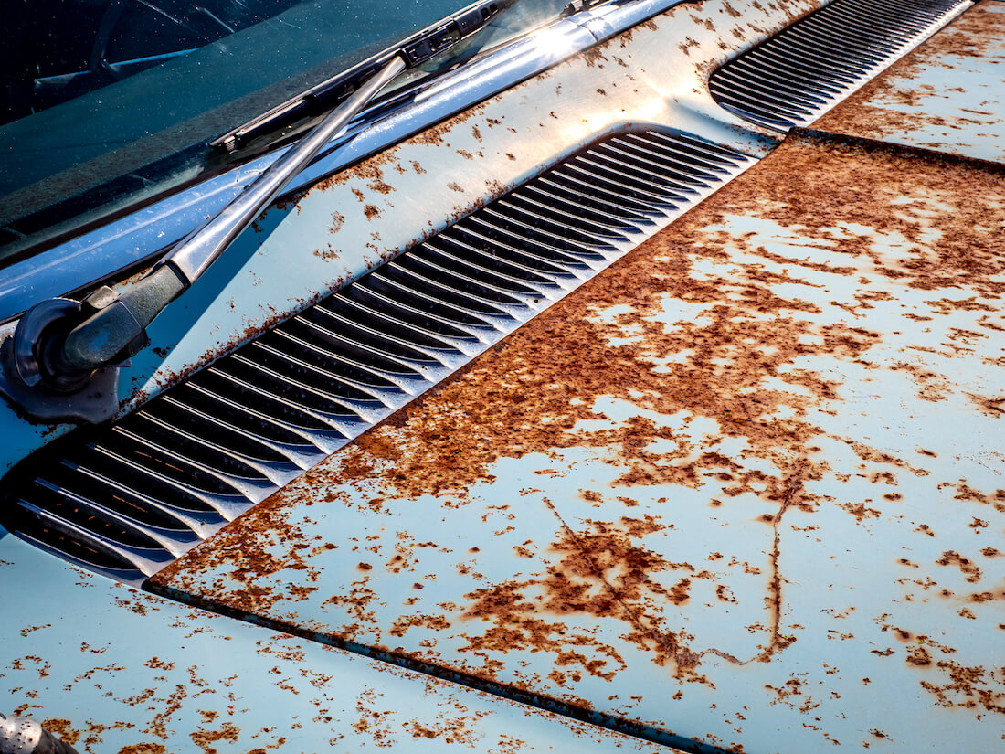 Cadillacin ruostunut maalipinta