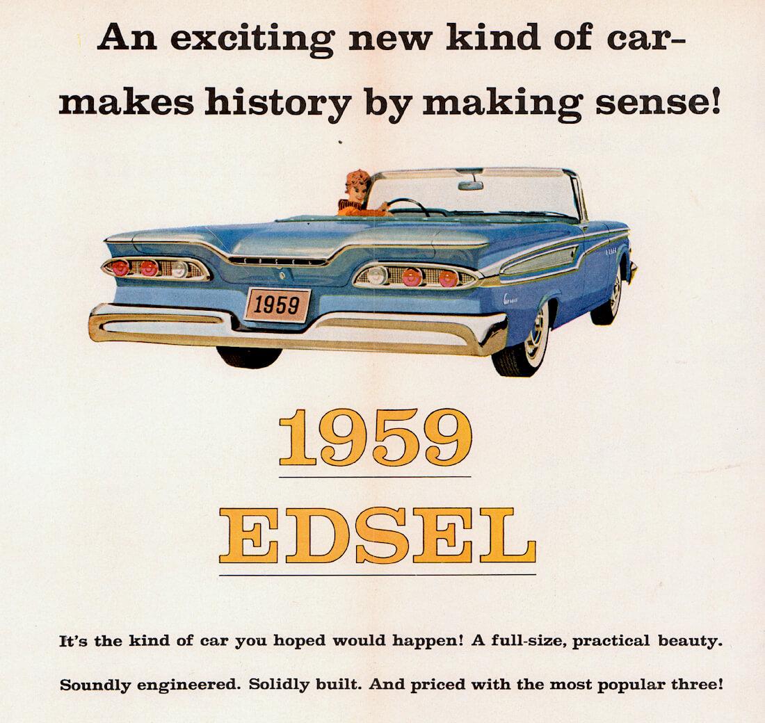1959 Edselin mainosjuliste