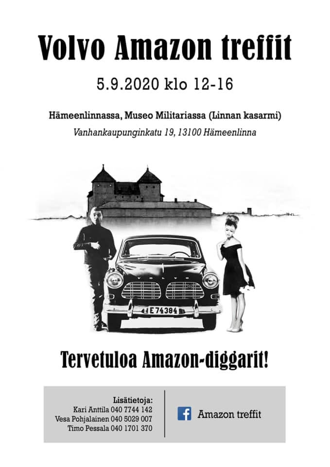 Volvo Amazon Treffit 2020 juliste
