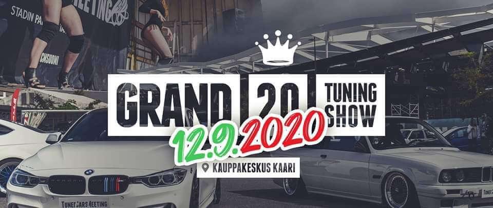 Grand Tuning Show 2020 näyttelyn mainosjuliste