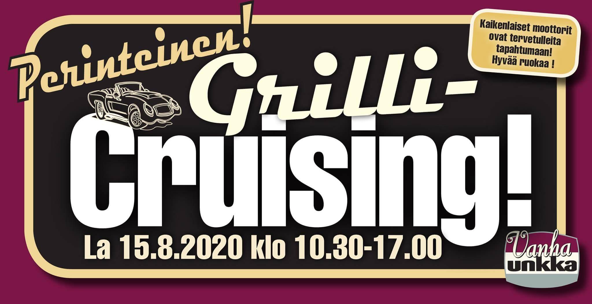 Grilli Cruising Vanhalla Unkalla mainos